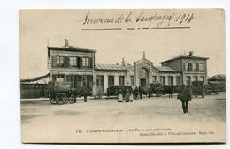 CPA  02  :  VILLERS COTTERETS La Gare Guerre 14-18 Avec Récit De Poilu Au Verso   A   VOIR  !!!! - Villers Cotterets