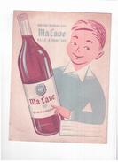 "V M/ Protège-Cahiers Vin  ""Ma Cave"" N 1 - Protège-cahiers"