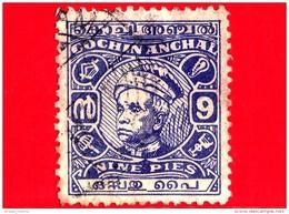 India - Cochin Anchal - Usato - 1949 - Maharaja Sri Kerala Varma II - 9 - Cochin