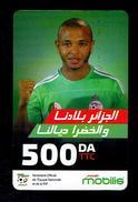 Telecarte Algérie Algeria Carte Prépayée Prepaid Card Mobilis Yacine Brahimi 500DA - Algeria