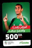 Telecarte Algérie Algeria Carte Prépayée Prepaid Card Mobilis Fouzi Ghoulem 500DA - Algeria