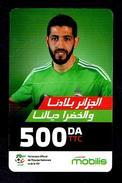 Telecarte Algérie Algeria Carte Prépayée Prepaid Card Mobilis Haliche 500DA - Algeria