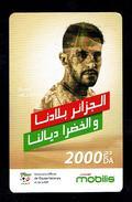 Telecarte Algérie Algerie Carte Prépayée Prepaid Card Mobilis Ryad Mahrez 2000 Da - Algeria