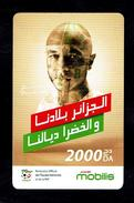 Telecarte Algérie Algerie Carte Prépayée Prepaid Card Mobilis Yacine Brahimi 2000 Da - Algeria