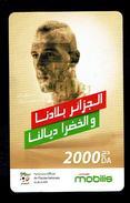 Telecarte Algérie Algerie Carte Prépayée Prepaid Card Mobilis Islam Slimani 2000 Da