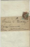 1871 -  Imprimés Sous Bande Affr.  1 C N° 25 SEUL   Oblit.  Cad Rouge Des Imprimés - Marcophilie (Lettres)