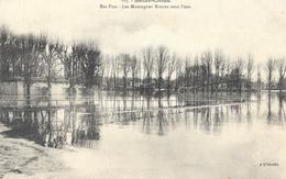 Crues De La Seine 1910 - Saint-Cloud - Bas Parc - Les Montagnes Russes Sous L'eau - Carte L'Abeille N° 103 Non Circulée - Inondations