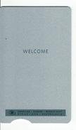 HOTEL HILTON WELCOME KEY CARD LLAVE KEYCARD HOTELKARTE CLEF - Hotel Labels