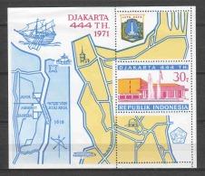 Indonesia 1971 Mi Block 18 MNH - Indonésie