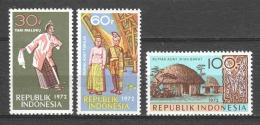 Indonesia 1972 Mi 719-721 MNH - Indonésie