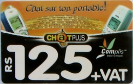 MAURITIUS ISLAND - Two Cellphones, Cellplus Complis Recharge, 125 ₨, Used - Mauritius