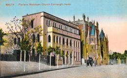Malte - Malta: Floriana Waisleyen Church Connaught Home - Carte Colorisée 1914 - Malte