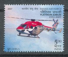 Inde 2007** Hélicoptère Platinium Jubilée 1932-2007