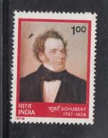 India  1978  -  Schubert  Music  1 R  MNH     2  Scans  # 93634  Inde Indien