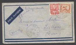 Enveloppe Laos Vers France 1934 - Nombreux Cachets - Paklay Vientiane Banvang Saïgon Marseille - Briefe U. Dokumente
