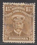 RHODESIA    SCOTT NO.  121     USED        YEAR  1913 - Grande-Bretagne (ex-colonies & Protectorats)