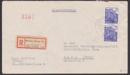 DDR Werdau Sachsen 35 Pfg.(2) 5-Jahrplan Berlin Sporthalle In Stalinallee  (MiNr. 417) - [6] República Democrática