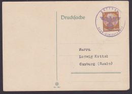 Vitkow Klokocov Groß-Glockersdorf Sudetenland 1938 Aushilfsstempel Mit Adler