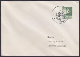 Trnowar  Postamt Trnowa Sudetenland 1938 Aushilfsstempel Aptiert