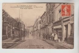 CPA VILLENEUVE SAINT GEORGES (Val De Marne) - Inondations 1910 : Rue De Paris - Villeneuve Saint Georges