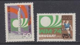 Uruguay 1974 World Championship Football 2v ** Mnh (34538) - Uruguay