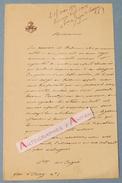 L.A.S 1872 - Vicomtesse De JUIGNE DE LASSIGNY - Paroisse Saint Antoine - Lettre Autographe LAS - Noblesse Aristocratie - Autographes