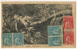 Libolo Atravessando Um Rio  P. Used 6 Stamps Loanda To Santa Clara Cuba 1923 - Angola
