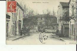 Saint-Andiol  13    La Grande-Rue  Animée  Et Café - France