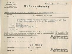DEUTSCHES REICH 1927 - Kostenrechnungsbeleg Kreis Thüringen - Deutschland