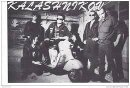 17038 Rennes (35 F) Groupe Musique Rock- KALASHNIKOV - CP Radio Savane 1983- Photo Jo Pinto Maya - Lambretta  Scooter - Musique Et Musiciens