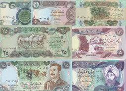 IRAQ 1/4 1/2 1 5 10 25 25 DINAR 1979 1986  P 67 68 69 70 71 72 73 UNC SET LOT - Iraq