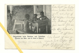 AK Gabun - Negerkinder - Mission - Entwicklungshilfe - Gelaufen 1910 - Gabun