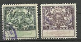 LETTLAND Latvia 1920ies Zimogmarka 1 & 5 Franks O - Lettland