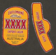 AUSTRALIA - Etichetta Birra Bière Beer CASTLEMAINE - Cerveza
