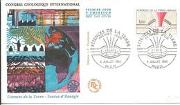 FDC FRANCIA 1980 - Geologia