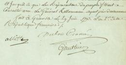 ARMEE DES ALPES - Albitte, Dubois-Crance, Gauthier Conventionnels Regicides 1793 Grenoble Important - Documents Historiques