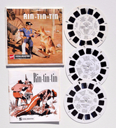 View-Master : RIN-TIN-TIN - Pochette 3 Disques - Année 1955 - Visionneuses Stéréoscopiques
