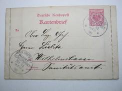 1898 , Rio De Janeiro , Marineschiffpoststempel Auf Kartenbrief Mit Viel Text Innen - Deutschland