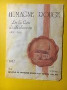 3156 -  Suisse Valais Himagne Rouge De La Cure De St-Séverin 1997 - Etiquettes