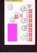 Lettre Recommandée Affranchissement Carnet Marianne Dulac  JT - 1961-....
