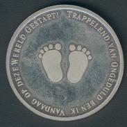 Niederlande Medaille Aus KMS 2003, Geburt Von Catharina-Amalia, Leuchtturm Kat.-Nr. Aus LP-SK1 2003, Vz+ - Pays-Bas