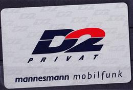 Deutschland Germany Allemagne - D 2 PRIVAT Mannesmann Mobilfunk SIM-Karte - Ellen Lohr - Germany
