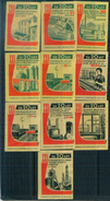 MATCHBOX LABELS RUSSIA CCCP URSS 1960's 20 YEARS ANNIVERSARY OF COMMUNIST ACHIEVEMENTS - Old Paper