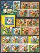 EQUATORIAL GUINEA  Football Soccer World Cup 1974-I  9v.+SS Perf.+imperf. - Coppa Del Mondo