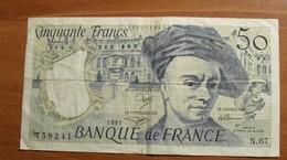 1991 - France - CINQUANTE FRANCS, Quentin De La Tour, N . 67 759241 - 50 F 1976-1992 ''Quentin De La Tour''