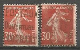 France - F1/239 - Type Semeuse Camée - N°160 2ex. Obl. - 1906-38 Sower - Cameo