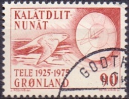 GROENLAND 1975 Telecommunicatie GB-USED. - Gebraucht