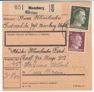 Germany Reich Parcel Card 1942 Moosburg To Wocheiner Vellach (Bohinjska Bela - Slovenia) B170105 - Deutschland