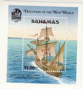 1991 Bahamas Discovery Of America Columbus Souvenir Sheet Complete Set Of 1  MNH - Bahamas (1973-...)