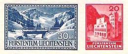 Liechtenstein 1936: Saminatal & Alp Valüna  Mi 151+151A  (ungezähnt - Aus Block 2) ** MNH